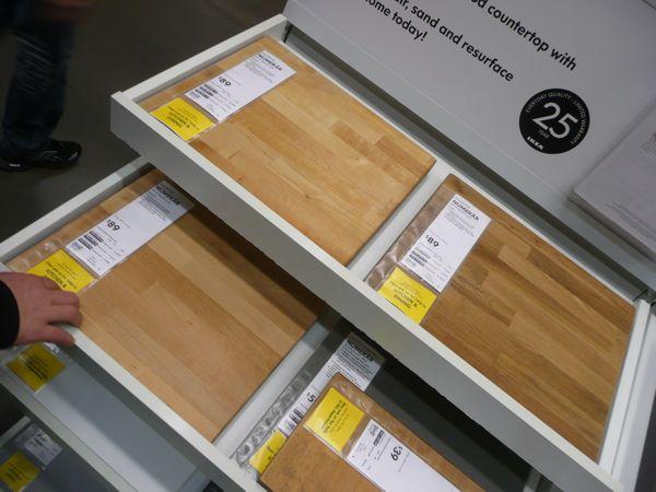 Countertops for Ikea wood type