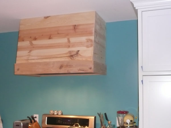 diy wood range hood